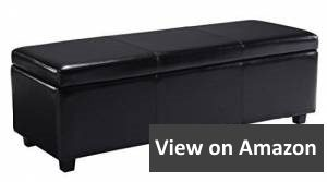 Simpli Home Avalon Rectangular Faux Leather Storage Ottoman Bench review