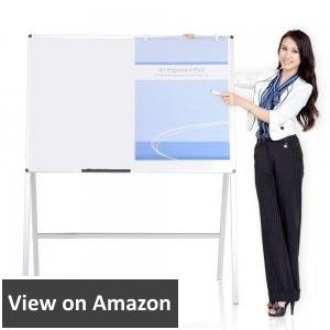 VIZ-PRO-Magnetic-H-Stand-Whiteboard-Adjustable-Dry-Erase-Easel-48-36