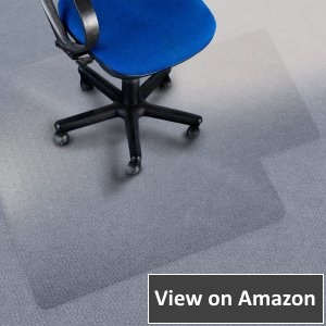 Office Marshal Chair Mat with Lip For High Pile Carpet Floors