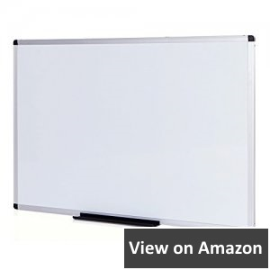 Viz-Pro-Dry-Erase-Board-Melamine-48-x-36-Inches-Silver-Aluminium-Frame-non-magnetic