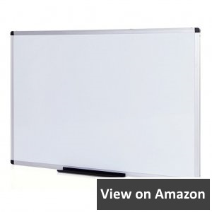 VIZ-PRO-Magnetic-Dry-Erase-Board-36-X-24-Inches-Silver-Aluminium-Frame