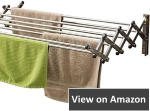 wall mounted drying rack for small spaces