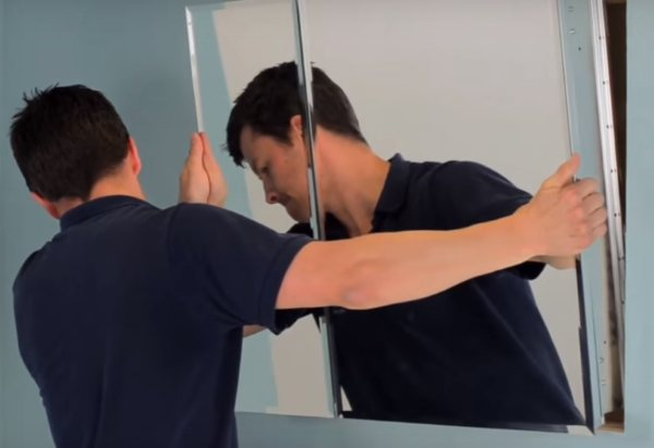 Croydex Medicine Cabinet recessed Installation - 3 step