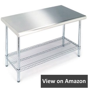 Seville Classics Commercial NSF 443 Stainless Steel Top Worktable