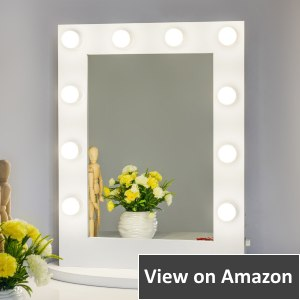 Chende Hollywood Style Lighted Makeup Vanity Mirror with Lights