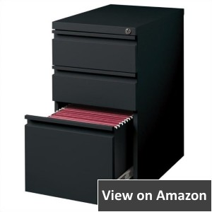 Hirsh Industries 3 Drawer Mobile Filing Cabinet, Black 2