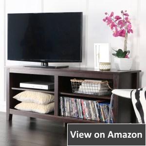 WE Furniture Wood TV Stand Storage Console, Espresso