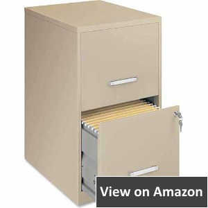 Lorell 18 Deep, 2 Drawer Filing Cabinet, Putty