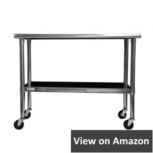 TRINITY EcoStorage NSF Stainless Steel Table with Wheels