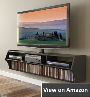 Prepac Black Altus Plus Floating TV Stand 5
