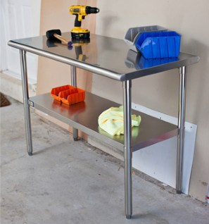 TRINITY EcoStorage NSF Stainless Steel Table garage table