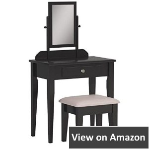 Crown Mark Iris Makeup Vanity Table with Stool