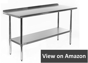 Gridmann 18 gauge 430 Stainless Steel Commercial Kitchen Prep and Work Table with Backsplash
