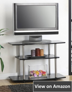 Convenience Concepts 3-Tier TV Stand for Flat Panel Television, Black
