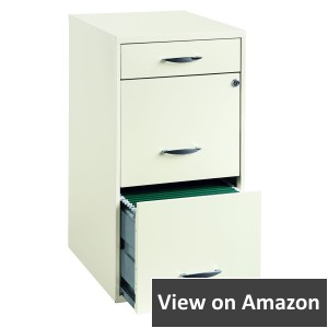 Hirsh Industries 18 Deep, 3 Drawer Filing Cabinet, White